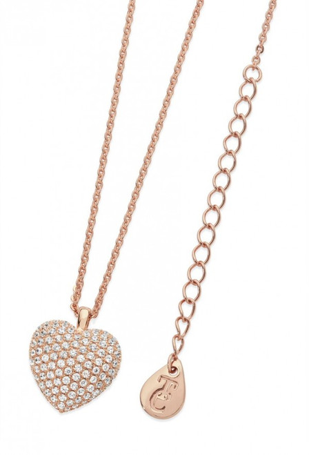 Bailey and Brook Cushion Pave Heart Pendant