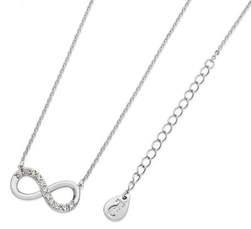 Bailey and Brooke Part Stone Set Infinity Necklace