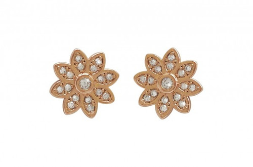 Bailey and Brooke Rose Gold Flower Earrings