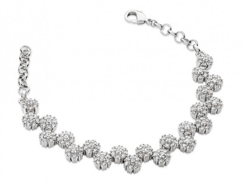 Bailey and Brooke Multiple Daisy Diamonte Bracelet