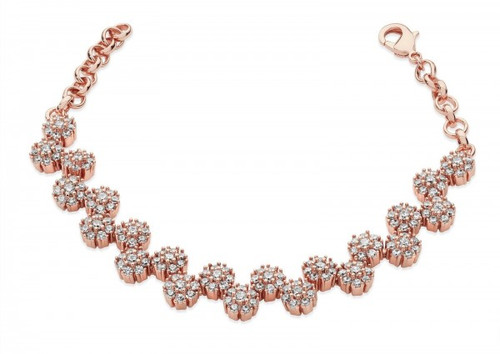 Bailey and Brooke Multiple Daisy Diamante Bracelet  Rose Gold