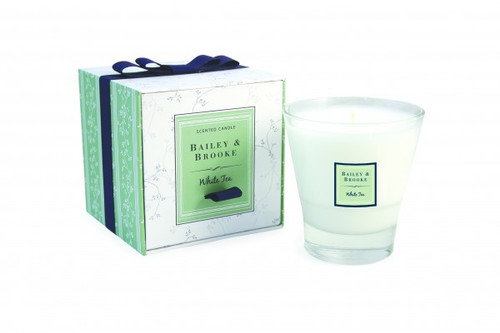 Bailey & Brooke Candle, White Tea Filled Tumbler Glass