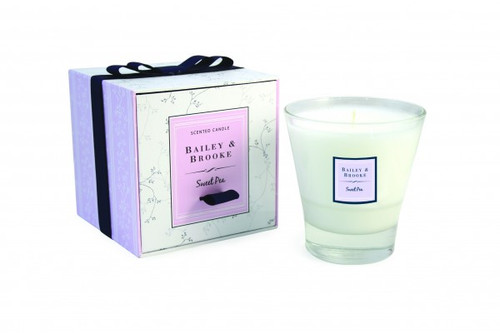 Bailey & Brooke Candle,  Sweet Pea Filled Tumbler Glass