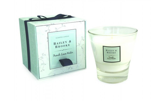 Bailey & Brooke Candle French Linen Water Filled Tumbler Glass