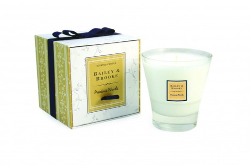 Bailey & Brooke Candle, Precious Woods Filled Tumbler Glass