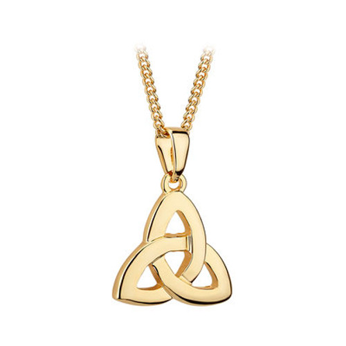 Gold Plated Trinity KNot Pendant
