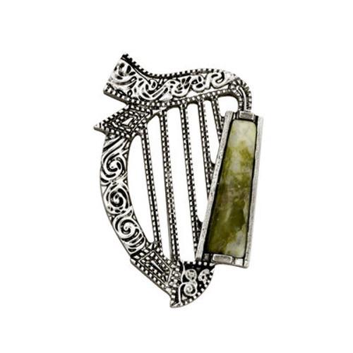 Conemara Marble Harp Brooch