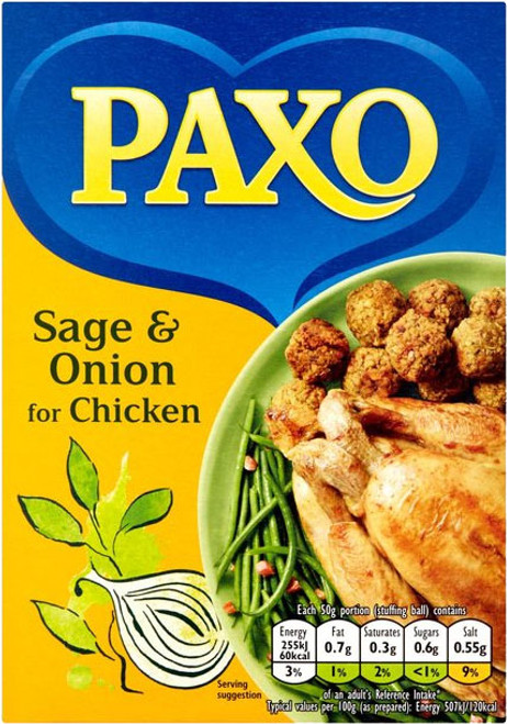Paxo Sage & Onion Stuffing 85g (3oz)