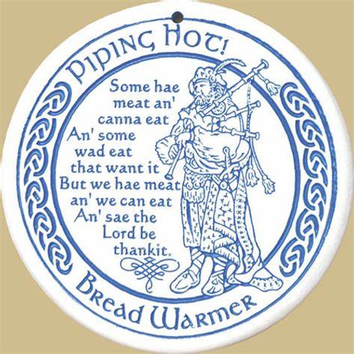 Bread Warmer - Scottish Piper and Blessing