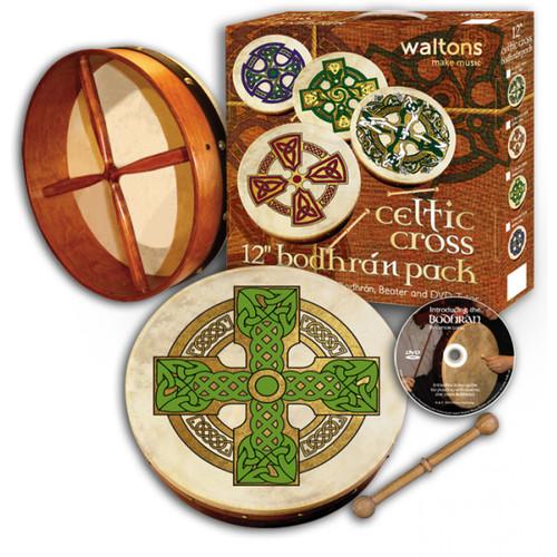 "12"" Waltons Cloghan Cross Bodhran Pack"