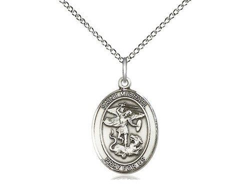 St. Michael the Archangel Medal Med with 18 inch Chain
