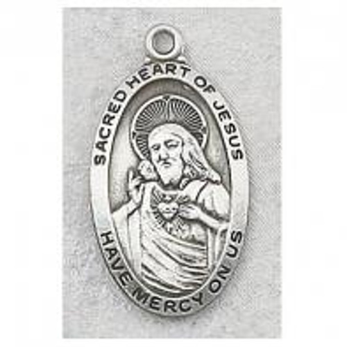 Sacred Heart of Jesus Medal Long Oval
