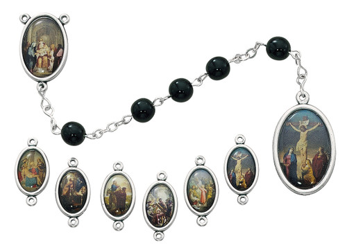 Seven Sorrows Black Rosary