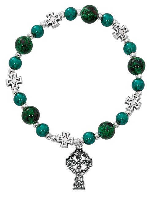 Adult Irish Bead Stretch Bracelet