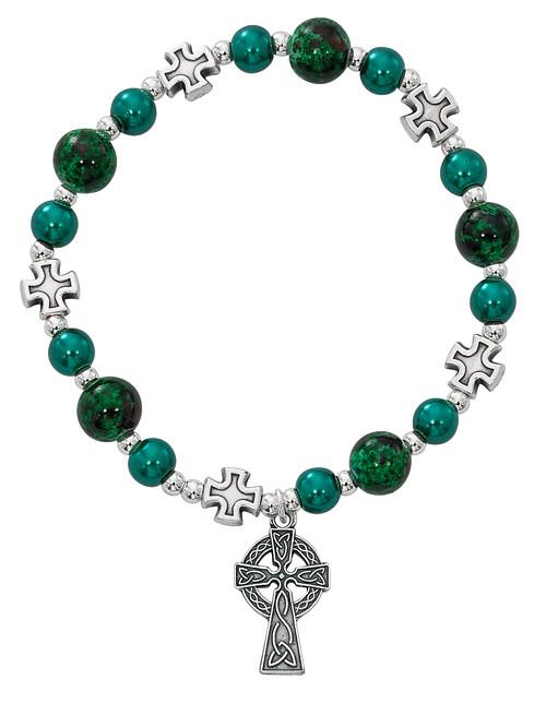 Adult Irish Bead Stretch Bracelet