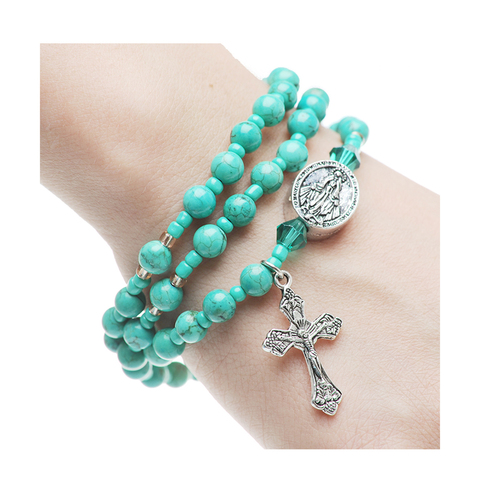 Rosary Bracelet Turquiose Twistable