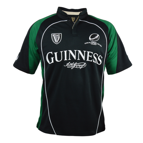 Guinness Black/Green Performance Rugby Jersey