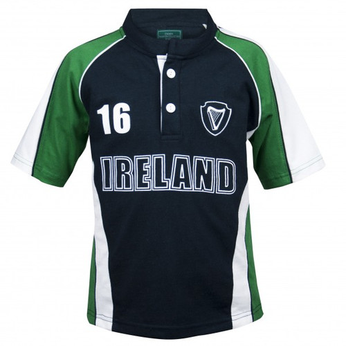 Croker Kids Green and Navy Rugby
