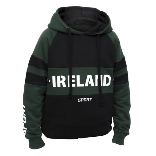 Croker Green and Black Kids Hoodie