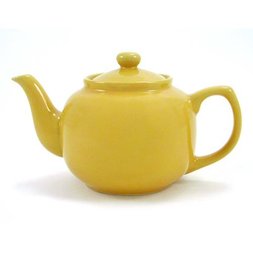 Ceramic Yellow Tea Pot