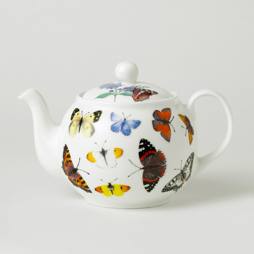Roy Kirkham Butterfly Porcelain Teapot