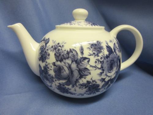 Roy Kirkham Blue Chintz Teapot