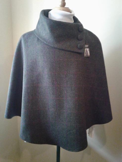 Mucross Wool Mini Dk Green Poncho