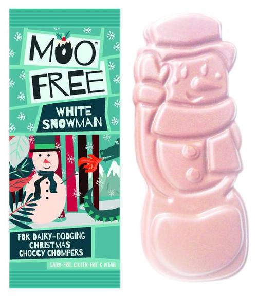 Moo Free (Vegan) White Snowman Christmas Chocolate