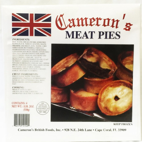 Cameron's Meat Pies 4 pk