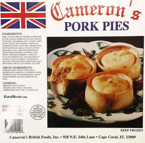 Cameron's Pork Pie 4 pk