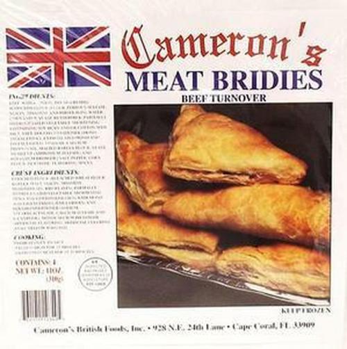Cameron's Meat Bridies Beef Turnover 4pk