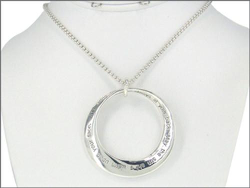 Silvertone Irish Blessing Necklace