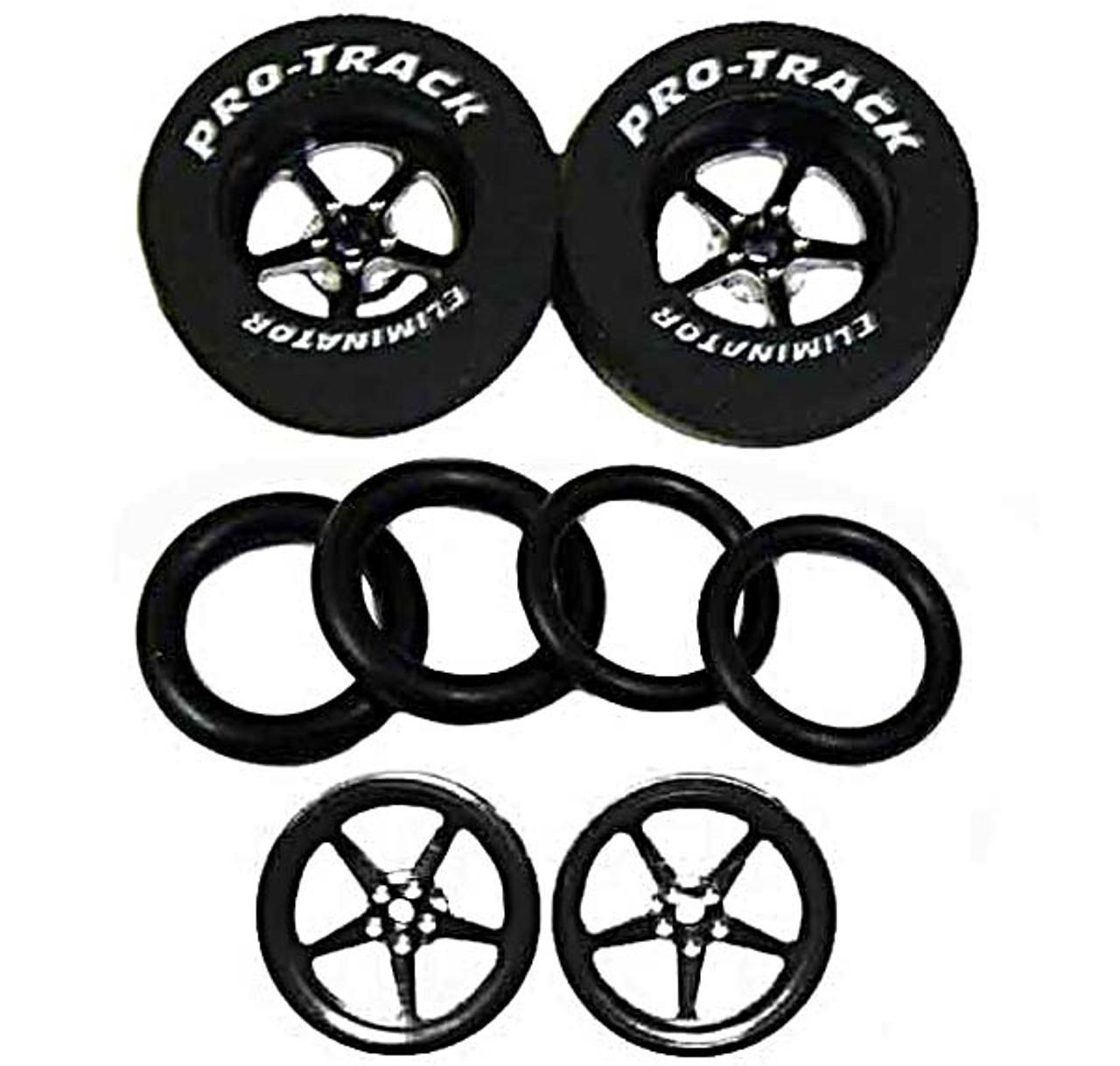 Pro-Track 1 1/16 x 3/32 x .435 wide Rears & Fronts - Style I - Black -PTC-N404I-BL-SET