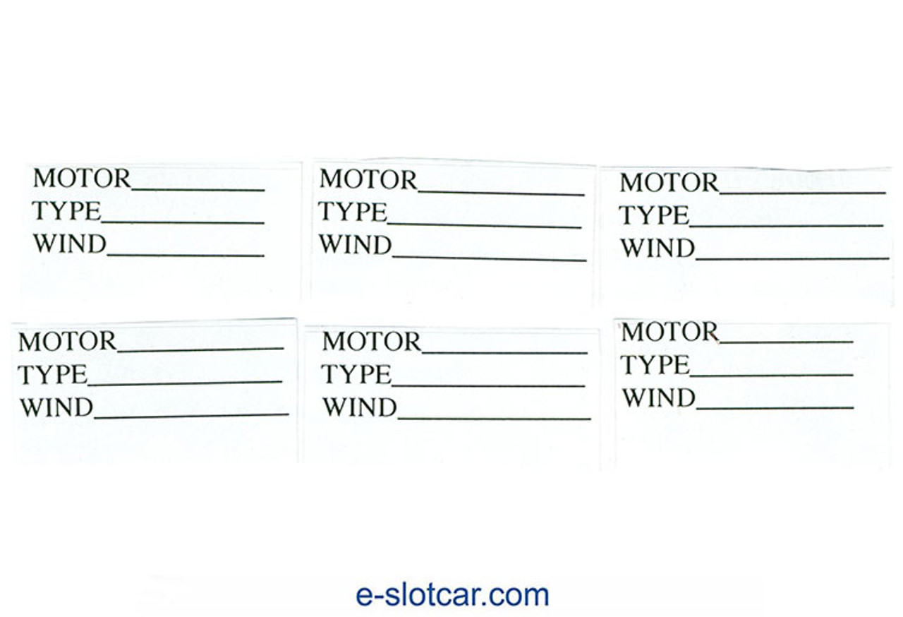 Koford Motor Box Labels - 6 Tags on a sheet - ONE SHEET - KOF-M573