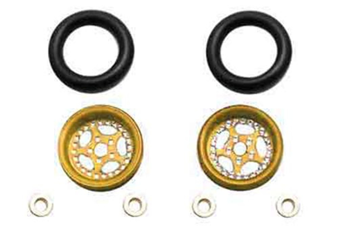 Pro-Track CNC Wheelie Bar Wheels - Gold - PTC-208B-G