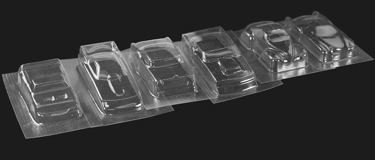 SS Racing Assorted H.O.Drag Bodies - pk of 6 - SS-H100