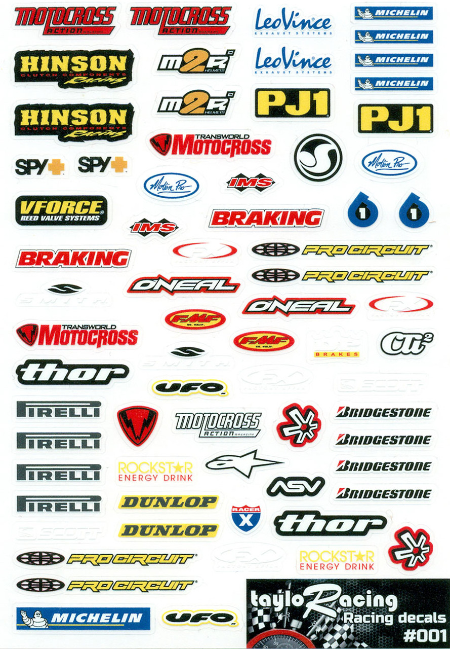 Taylo Racing Sponser Stickers #001 - TAY-001
