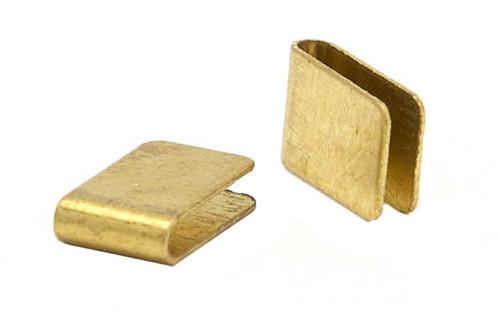 JK Brass Pre-Bent Guide Clips - 50 pr Pack - JK-U15-50 / JK-3542
