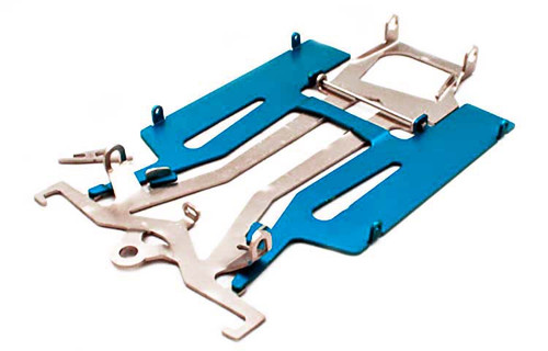 "Mossetti Patriot Defender 4 1/2"" Chassis w/Blue Aluminum Pan - MR-2506BL"
