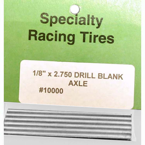 "SRT 1/8 Axle drill blank - 2.75"" Long - No Flats - SRT-10000"