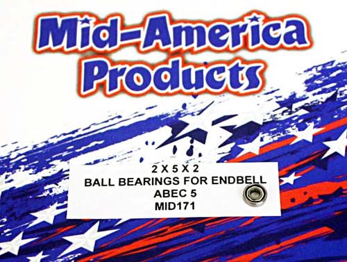 Mid America 2 x 5 Endbell Ball Bearing  w/o Flange - MAR171