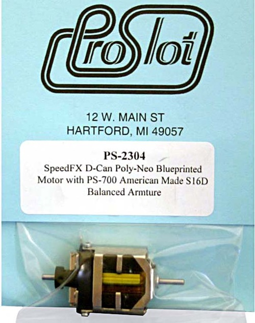 Proslot Blueprinted S16-D Motor with Poly Neo-Magnets - PS-2304