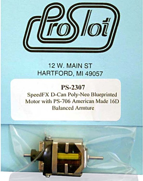 Proslot Blueprinted 16-D Motor with Poly-Neo Magnets - PS-2307