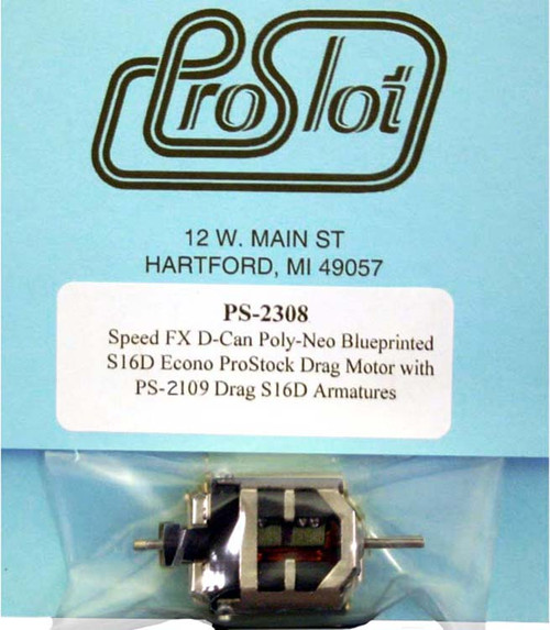 Proslot Blueprinted Econo Pro Stock S16-D Motor with Poly-Neo Magnets - PS-2308