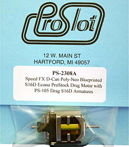 Proslot Blueprinted Econo Pro Stock S16-D Motor with Poly-Neo Magnets - PS-2308A