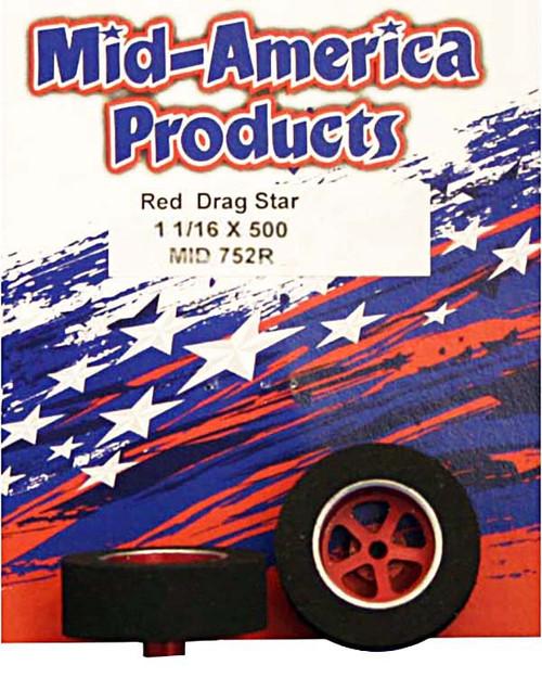 Mid America Star Rears - 1 1/16 x .500 - Red - MAR752R