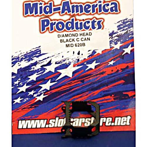 Mid America Diamond Head C-Can - Black - MAR620B
