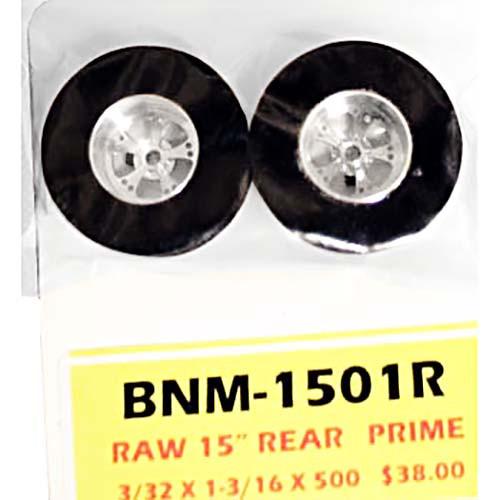 "BNM 1 3/16"" x .500"" wide 20"" Prime Drag Rear Wheels - 3/32 Axles - BNM-1501R"