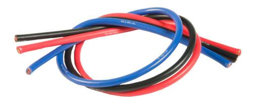 TQ 13 Gauge Drag Leadwire 1' ea. Blue Black & Red - TQ-1303