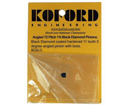 Koford 11 Tooth 5 Degree Black Diamond Angled Pinion - KOF-M722-11